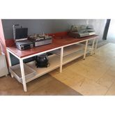 Red Stainless Steele Worktafel