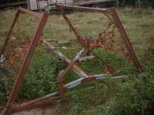 Mounted folding chain harrows