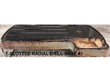 T-SLOTTED RADIAL DRILL BASES