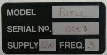 2004 RIFLE RIFLE Memory Tester