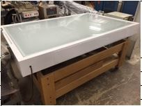 Light Table with Glass Top