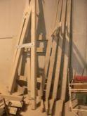 Lamellar wood pergola