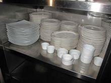 Stock of kitchen utensils