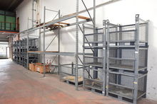 Pallet racks shelving and crate