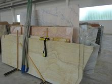 Gilded stone slabs