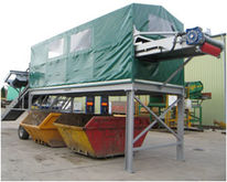 Waste picking station with over