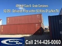 2001 A PLUS 40' HC Delivery Inc