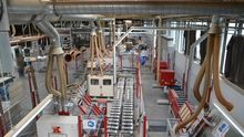 Production line for door frames