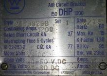 1200 Amp, WESTINGHOUSE, 150DHP1