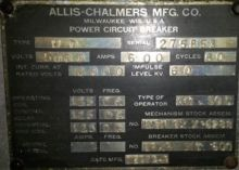 600 Amp, ALLIS CHALMERS, AM50-C