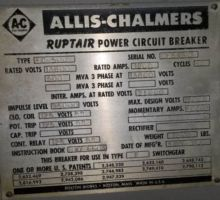1200 Amp, ALLIS CHALMERS, FC500