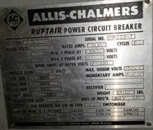 1200 Amp, ALLIS CHALMERS, FC-50