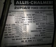 1200 Amp, ALLIS CHALMERS, AM-25