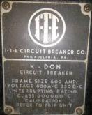 600 Amp, ITE, K-DON600, 480 V.,