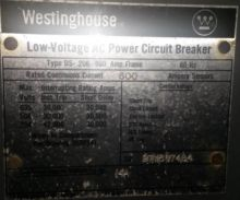 600 Amp, WESTINGHOUSE, DS206, 4