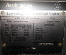 600 Amp, WESTINGHOUSE, DS 206,