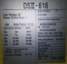 1600 Amp, SQUARE D, DS2-616, 63