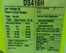 1600 Amp, SQUARE D, DS-416H, 63