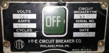 1000 Amp, ITE, KC, 480 V., 1947