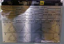 500 KVA, Pri 4160 D, Sec 480 Y,
