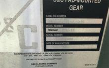 600 Amp, S&C, No. PMH-11, 15 V.