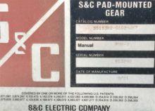 600 Amp, S&C, No. PMH-9, 25KV.,