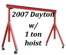 1 Ton, DAYTON, Span 15', 10'und