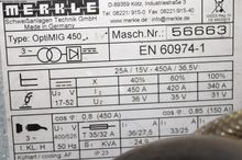 2013 MERKLE 450 DW Opti MIG 104