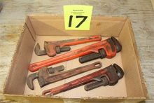 Lot of (4) Ridgid Pipe Wrenches