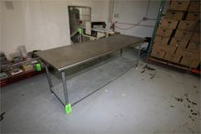 """Dual Level S/S Table, 96"""" L x 3"""