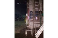 TWO 10' WOODEN LADDERS