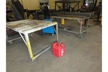 """Rolling Metal Tables, 60"""" x 42"""""""