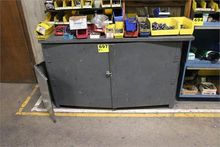 TWO DOOR CABINET WITH CONTENTS-