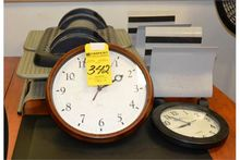 Lot - Office Sundries, Clocks,