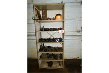Metal Storage Rack, W/Contents,