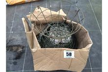 "Qty 16"" wire hanging baskets"