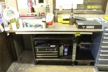 STEEL WORKBENCH WITH WOOD TOP-3