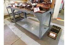 "30"" X 64"" Metal Work Table, W/4"