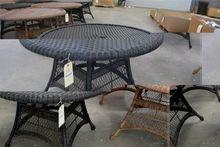 Patio Table. Round Resin Wicker