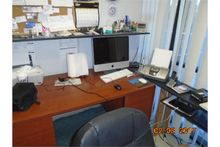 LOT OFFICE FURNITURE, COMPUTER,