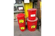 Justrite Oily Rag Containers