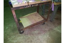 ROLLER CART & WOOD TABLE