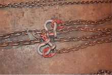 "2 strand lifting chain w/.5"" Gr"