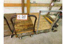 (2) Wooden Shop Carts