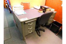 (2) Metal Double Pedestal Desk,