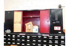 (3) Small Metal 2-Door Storage