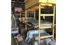 (3) Custom built steel racks, f