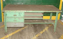"work bench, 34"" x 72"" oak top"