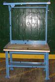 "work bench, 36"" x 48"" oak top"