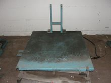 "scissor lift table, 40"" x 47"" p"